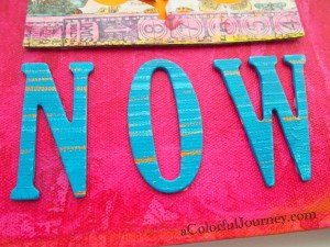 Video showing how to use various tapes to make a colorful element for a canvas, art journal and more with Carolyn Dube
