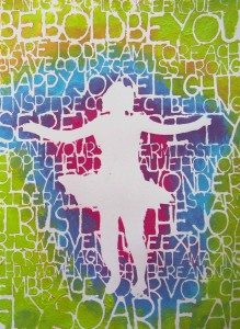 Stencil Play A Workshop by Carolyn Dube