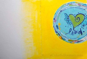 Video using the round Gelli Plate  and a stencil from StencilGirl Products by Carolyn Dube