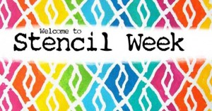 Stencil videos and giveaways during Stencil Week with Carolyn Dube