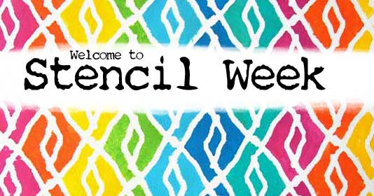 New stencil videos and a stencil giveaway every weekday during Stencil Week with Carolyn Dube