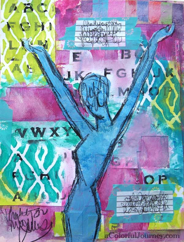 art journaling ideas from muse video tutorial by carolyn dube