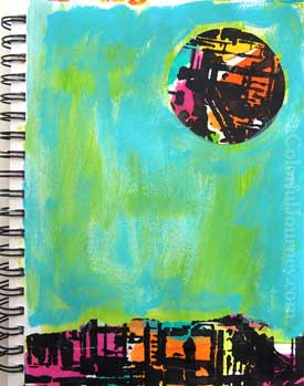 following art journal plan with carolyn dube