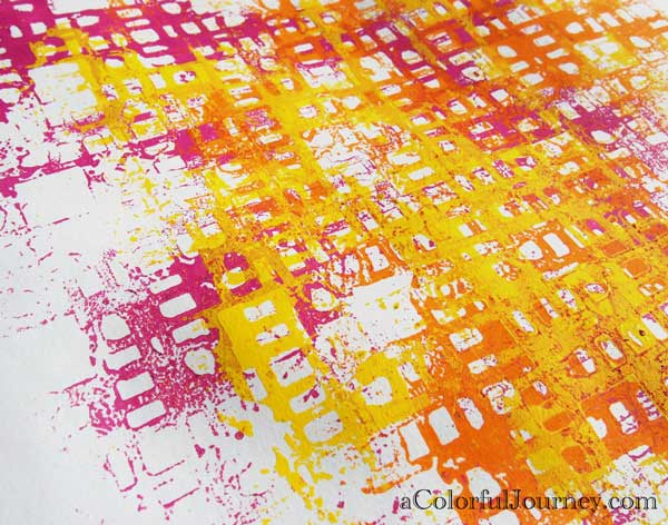 Use All the Liquitex Spray Paint on a Stencil step-by-step with Carolyn Dube