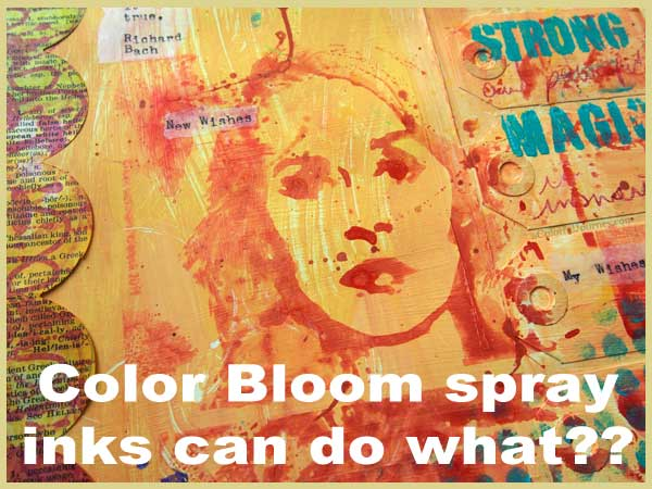Color Bloom spray inks can do what?