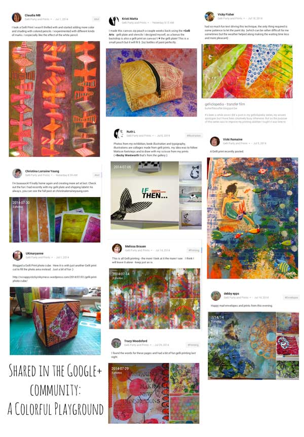 Gelli Plate prints and play