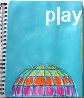 Video showing my art journal play with rubber stamps, watercolor crayons, and a stencil. Check it out!