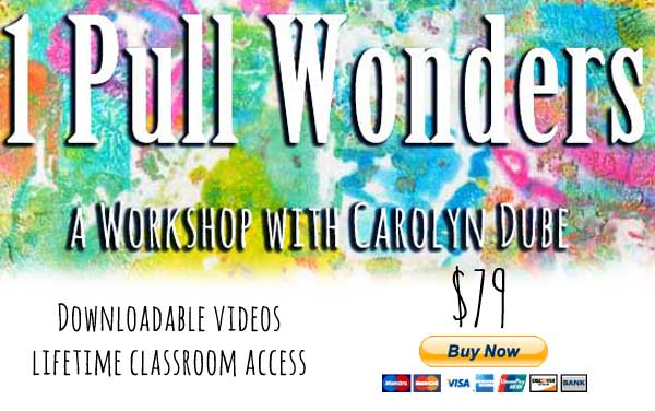 One Pull Wonders Gelli Printing Workshop