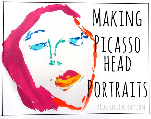 Fun video making Picasso style portraits on the Gelli Plate!