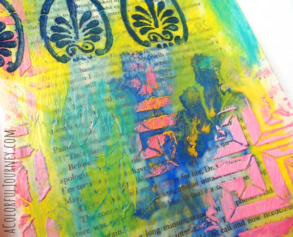 Video Showing How I Use an Art Book to Inspire My Play with Encaustics and a Stencil