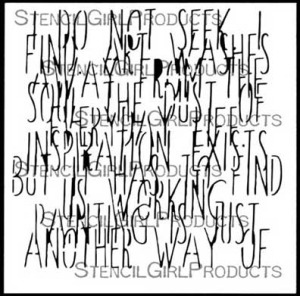 Picasso's Words Stencil by Carolyn Dube for StencilGirl Products