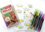 Video using Liquitex Paint Pens for Gelli Printing