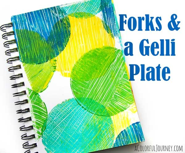 Creating Quick and Easy Texture on a Round Gelli Plate