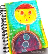 Video showing different ways you can use a round Gelli Plate as both a mask and for printing!