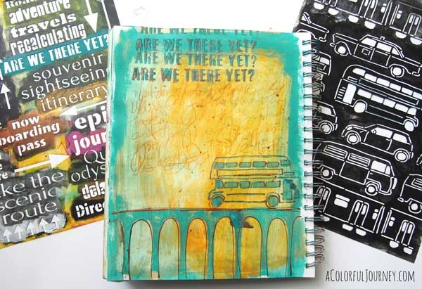 Video using baby wipes and a stencil in my art journal
