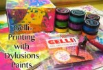 Video packed with Gelli® printing play with Dylusions paints and a plain box