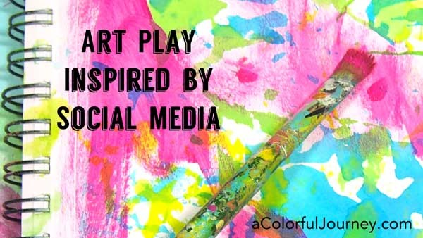 I'm playing and sharing how social media inspired my play! Click on over and join the fun!