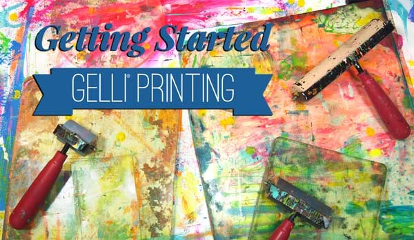 What do you need to get started Gelli Printing? In the video, I share with you my recommendations for getting started playing!