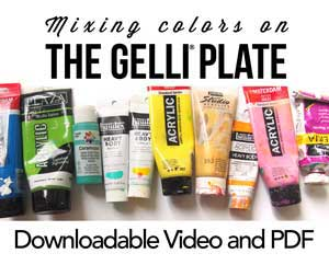 Mixing colors on the Gelli Plate - free video and pdf cheat sheet!