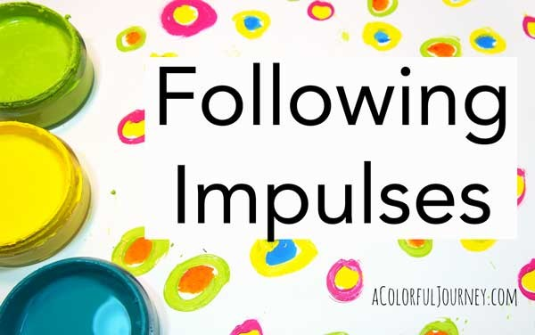 I'm following my impulses when I saw some dots on my paper - check out the video!