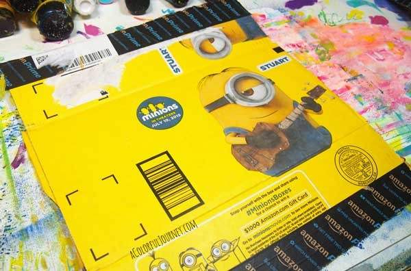 Couldn't resist painting the Minions Amazon box!