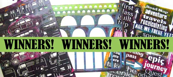 Winners of new stencils!
