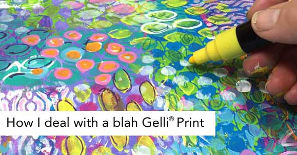 I started with a Gelli print and then built up layers of stencils and simple doodling to create a mixed media paper