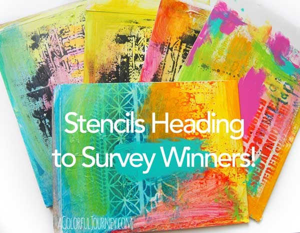Survey Winners Stencils are on their way!