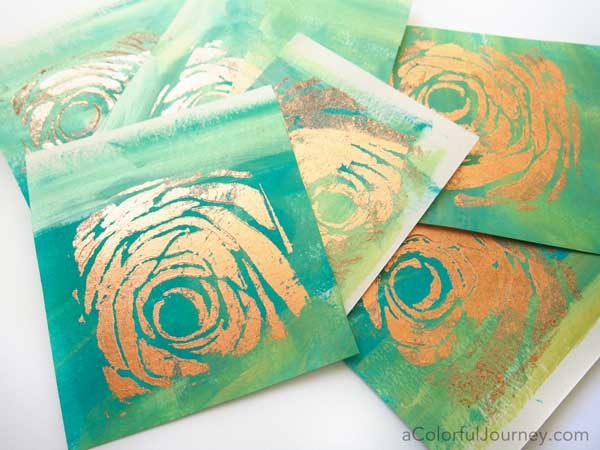 She's got a video showing to do copper foiling creating art journal style cards! with StencilGirl stencils and USArtQuest!