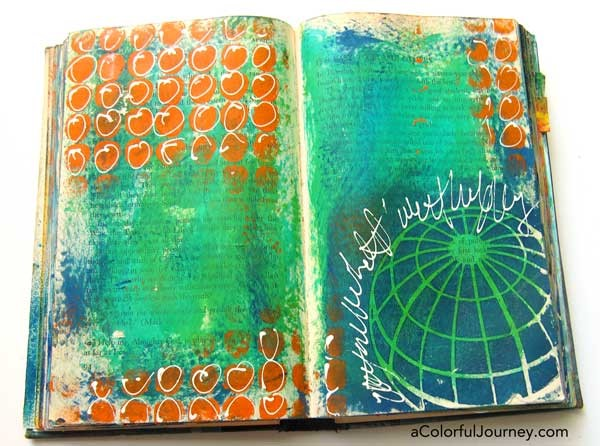 Carolyn's made a video playing with the Groove Tool in an altered book!