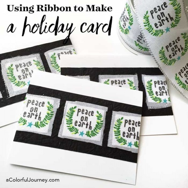 What do you do with holiday ribbon that's on sale? Use a little sparkle and make quick cards with them! See how in the video!