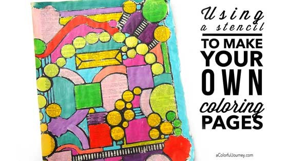 using a stencil to make your own coloring pages