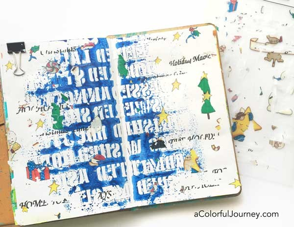 Le'ts Play video tutorial using old dried out rub ons in an art journal and link party!