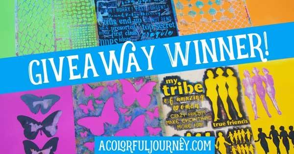 New stencil release giveaway winner!