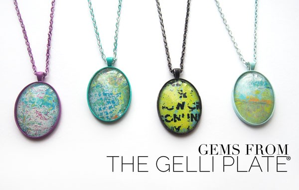 Making Jewelry With Gelli Printed Packing Tape Work Carolyn Dube