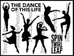 The Dance of This Life stencil and 6 masks by Carolyn Dube for StencilGirl Products