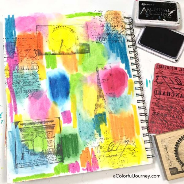 What are distress crayons from TIm Holtz? Video showing how to use them in an art journal and what pens will write on it by Carolyn Dube
