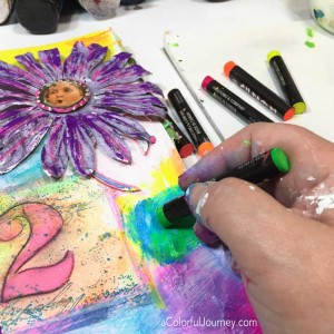Video sharing how to redo an art journal page with Carolyn Dube