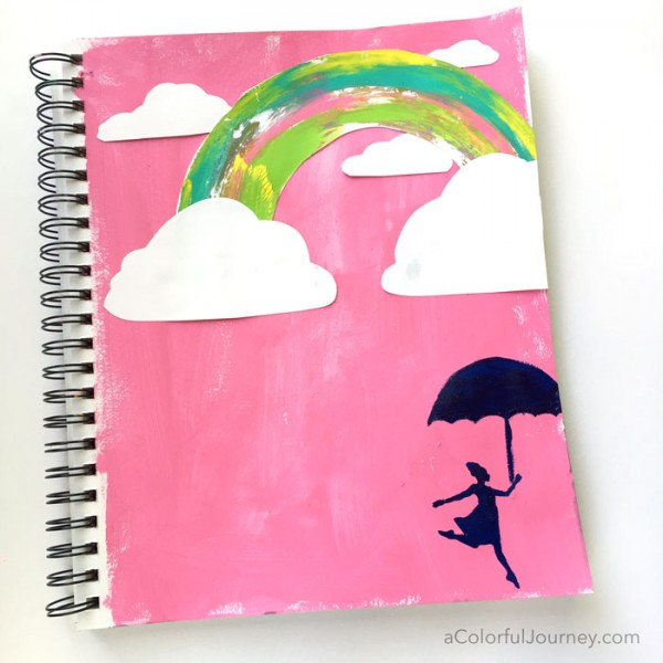 What happens when judgmental thoughts show up when I am creating in my art journal and what I do to quiet them down!