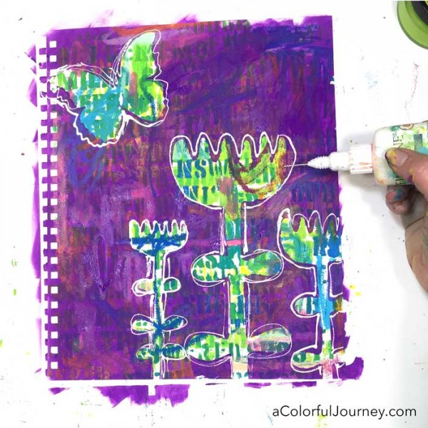 How to stencil all the wrong ways in an art journal and have fun doing it!