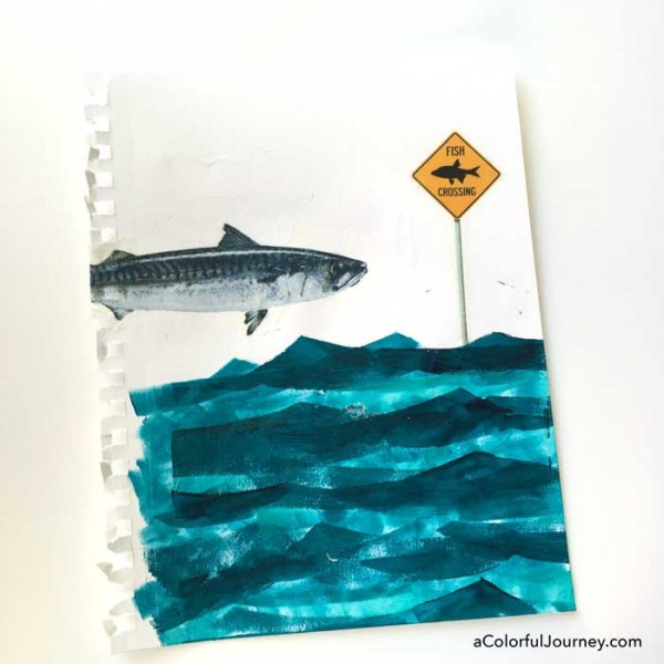 A silly art journal page step by step