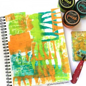 How to use seed pods for gelli printing in an art journal- video by Carolyn Dube