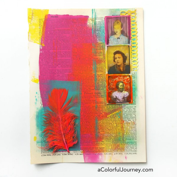 This art journal page seemed to have a mind of its own!