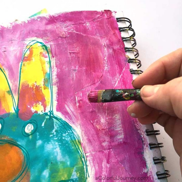 Starting an Art Journal Page with a Spark video tutorial by Carolyn Dube