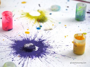 How to make colorful papers with exploding paints