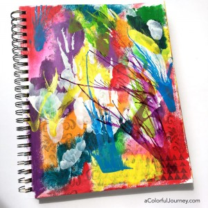 How to Use Compressed Air and the Rainbow in Your Art Journal