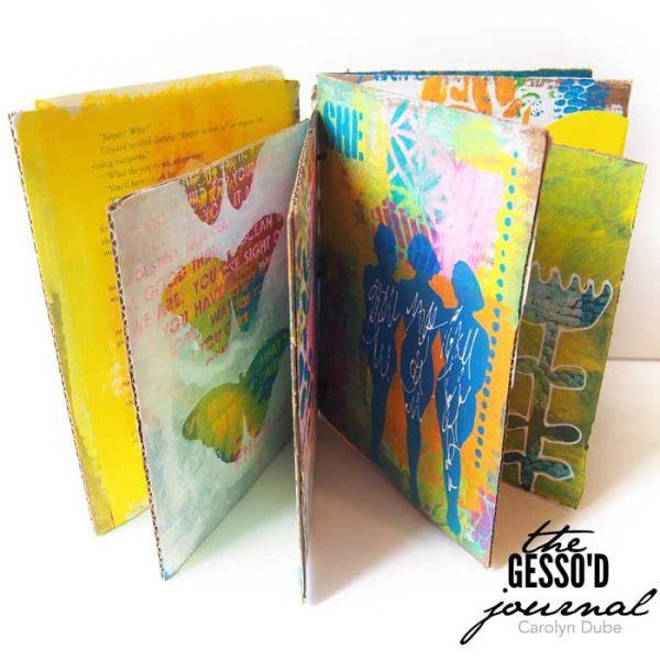 Gesso'd Journal workshop with Carolyn Dube