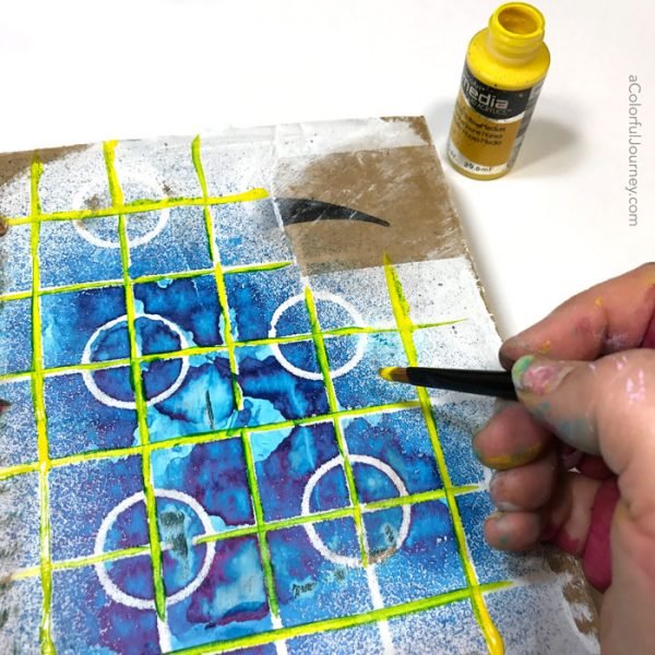 How I dealt with the challenge of dylusions spray ink bleeding in an art journal