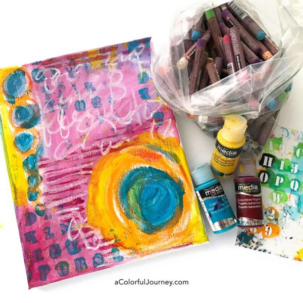 How to play and create a stenciled canvas