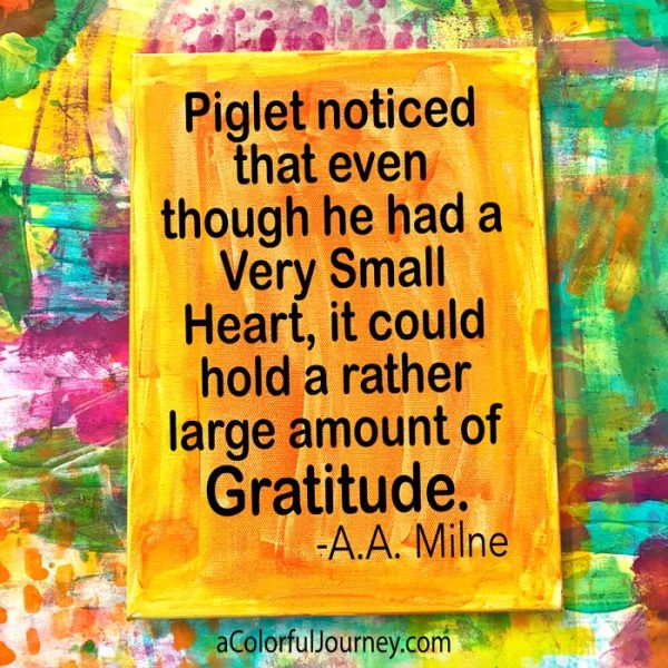 Piglet offers wisdom about gratitude